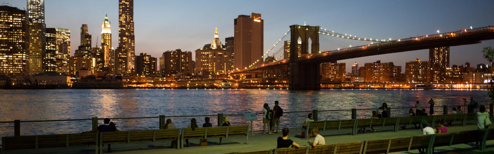 Brooklyn Bridge Park, Skyline, Evening