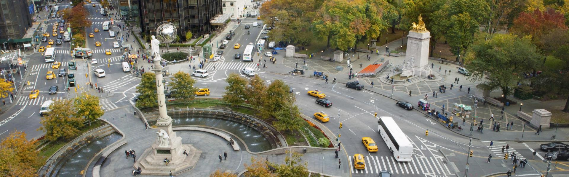 Columbus Circle, Overhead