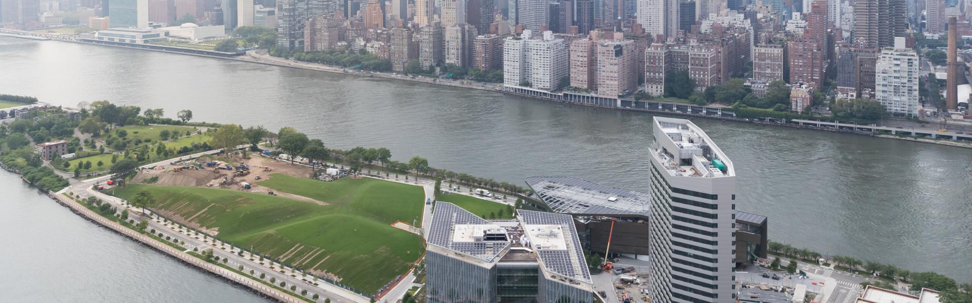 cornell tech, arial view