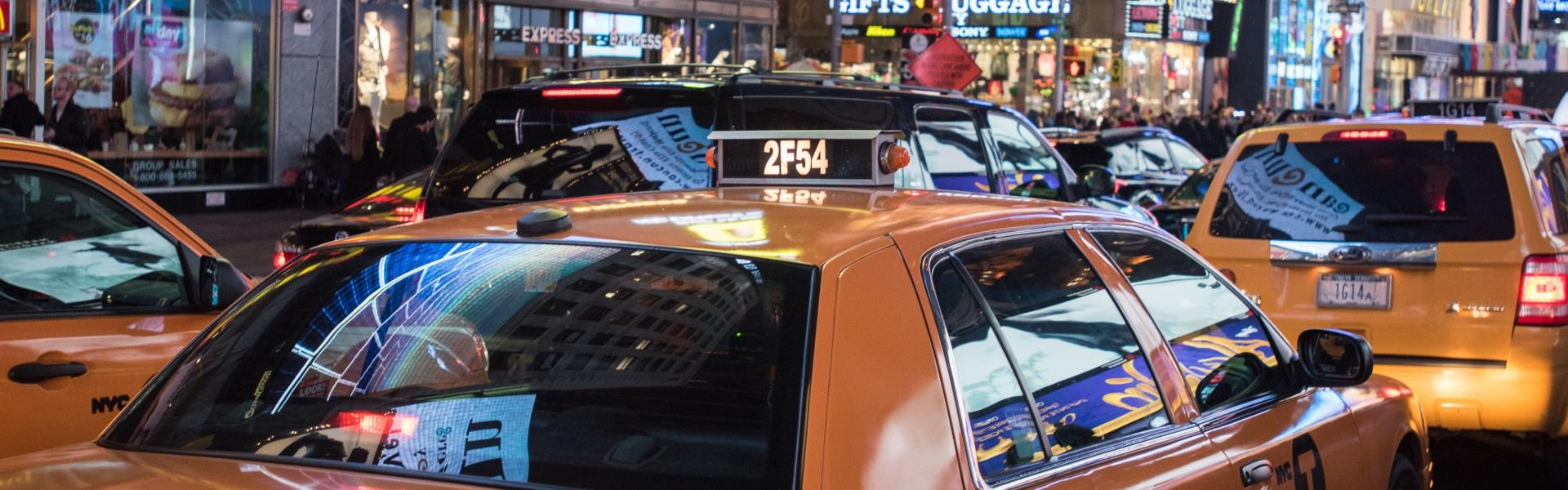 Taxi, Times Square, Midtown, Manhattan
