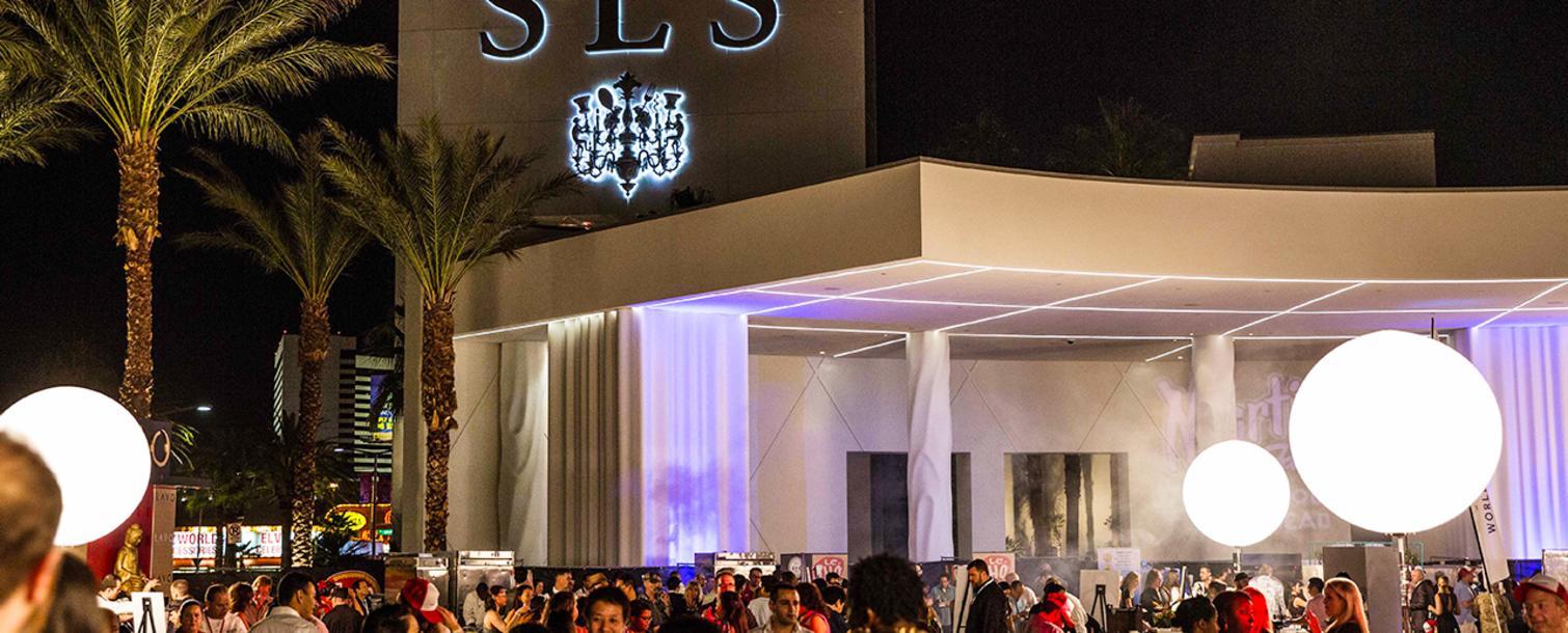 Evening outdoor party at SLS Las Vegas