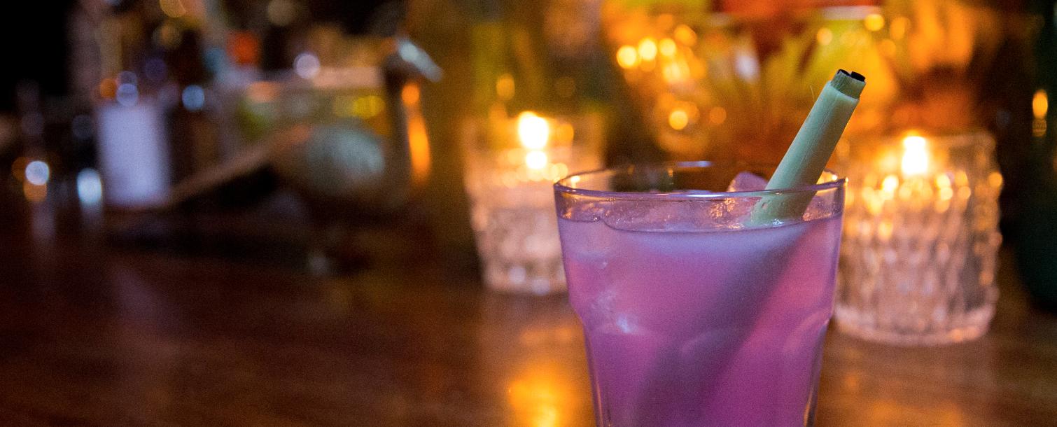 Pink cocktail from Velveteen Rabbit in Las Vegas, Nevada