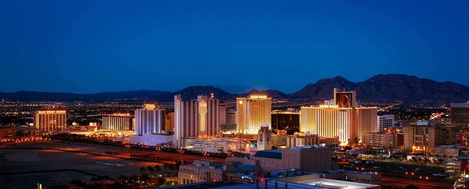 Downtown Las Vegas aerial view