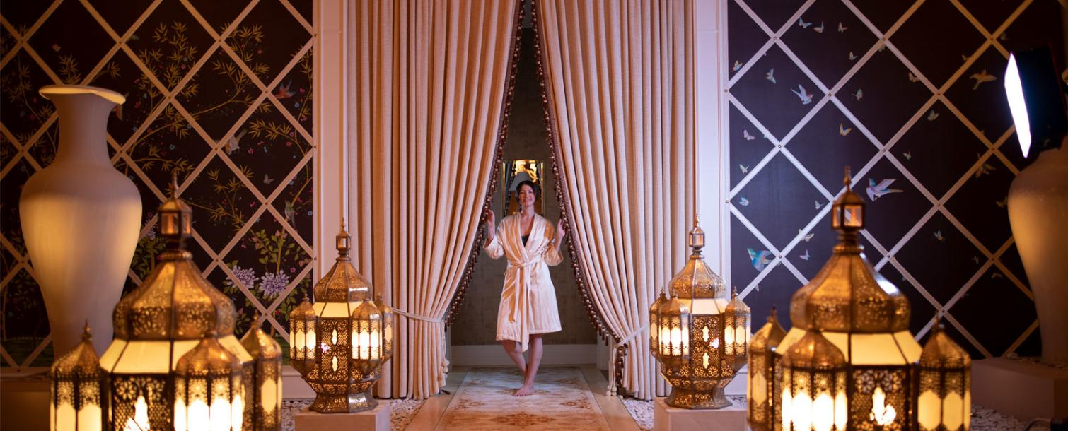 Woman Inside The Spa at Wynn