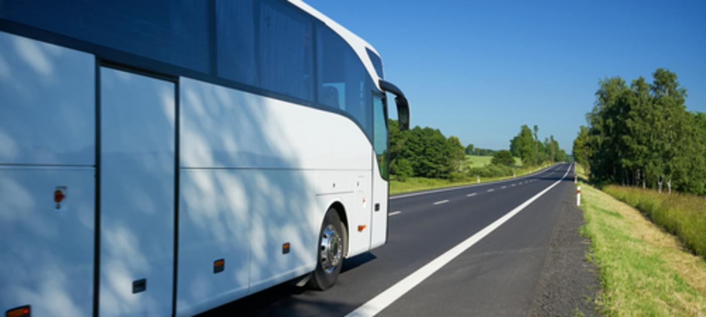 Motorcoach on road