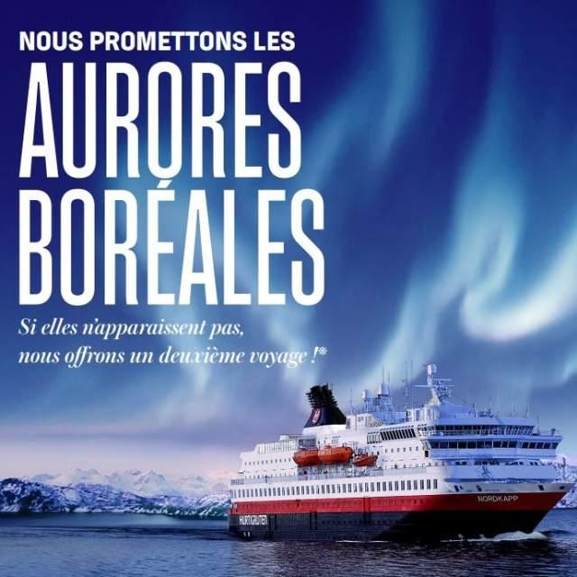 La promesse des aurores boréales, Hurtigruten