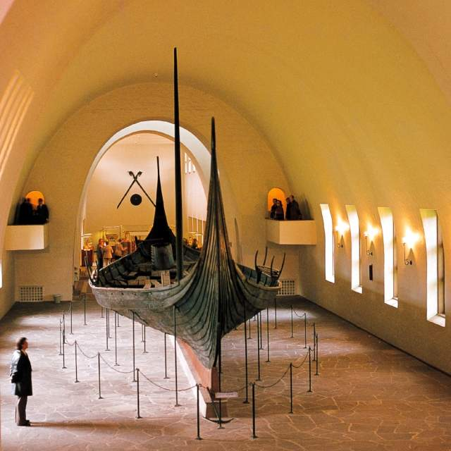 Gokstad ship in The Viking Ship Museum in Oslo