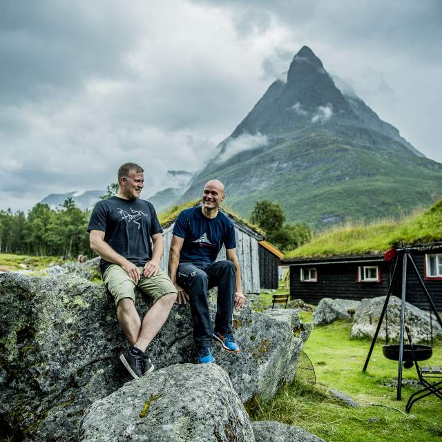 The gay couple Eystein Opdøl and Jan Håvard Knee are the hosts at Renndølsetra, Innerdalen