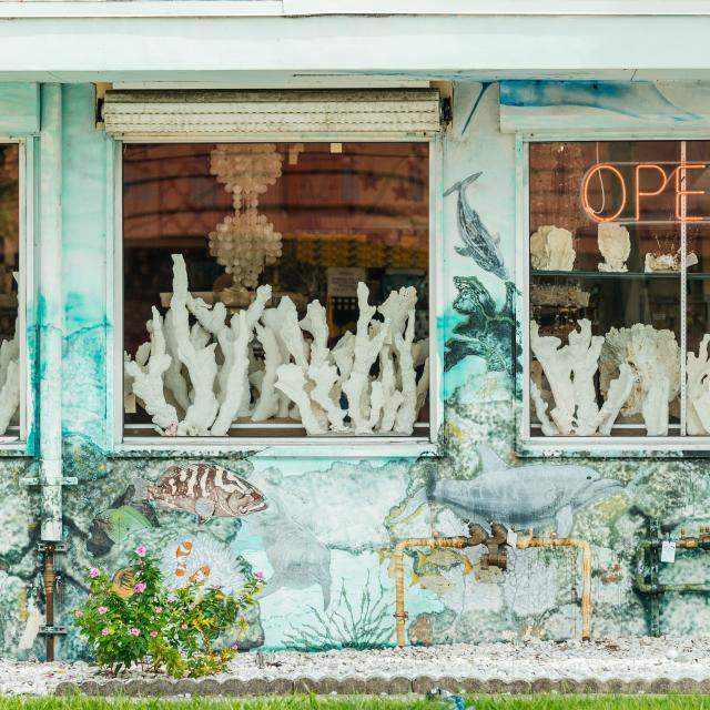Dania Beach Historic District Coral Reef Shop Exterior