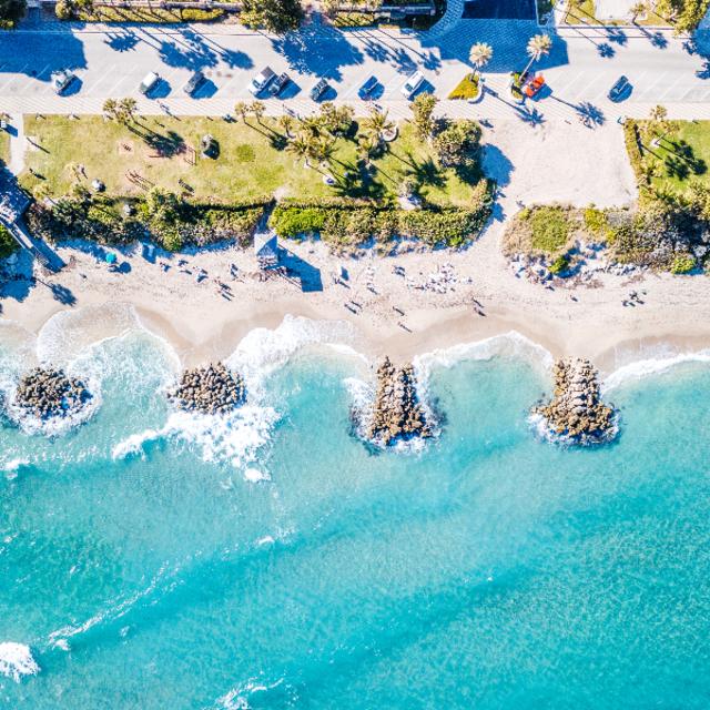 Aerial view of Deerfield Beach, FL