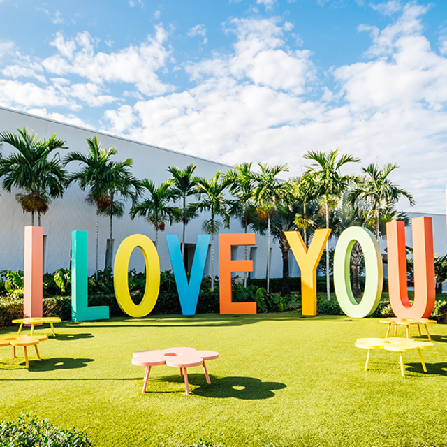 """""""I Love You"""" letter art at the Young at Art Museum in Fort Lauderdale, FL"""