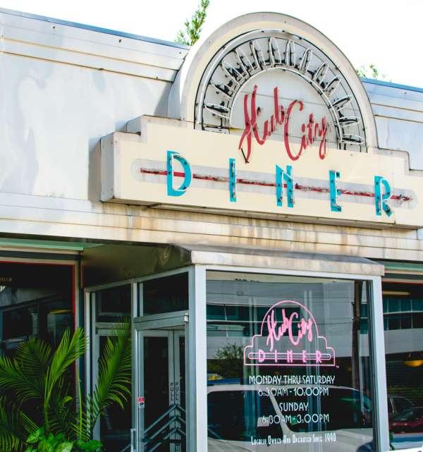 Hub City Diner Exterior