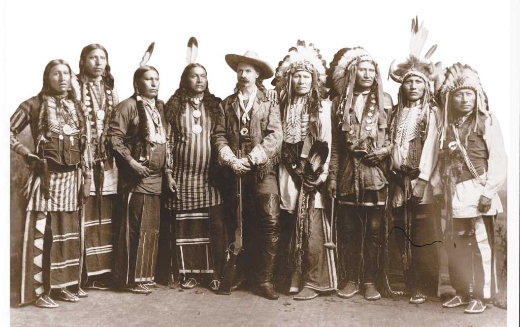 Historic Photo Of Buffalo Bill Cody And A Group Of Native Americans