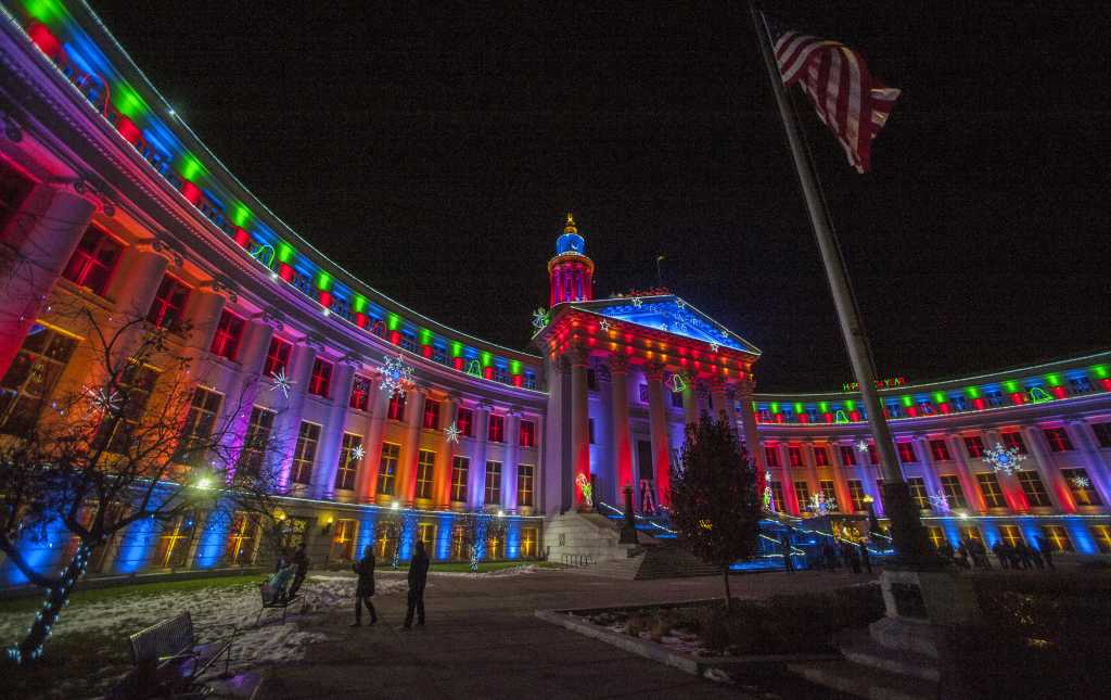 city county building holiday lights - Christmas Lights In Denver