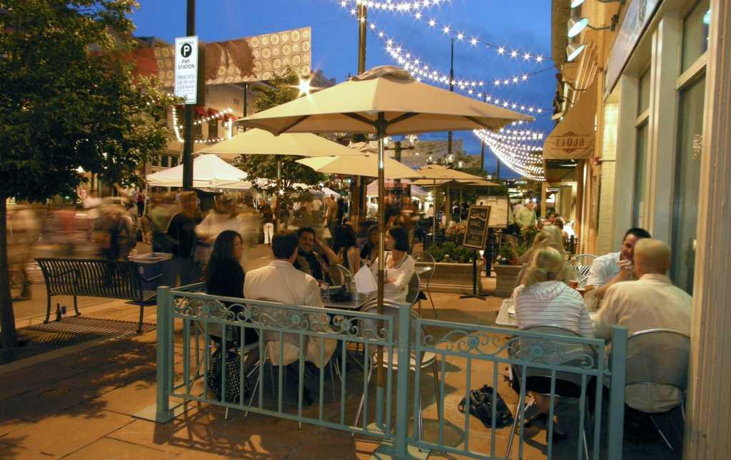 Larimer Square Patio Dining Night