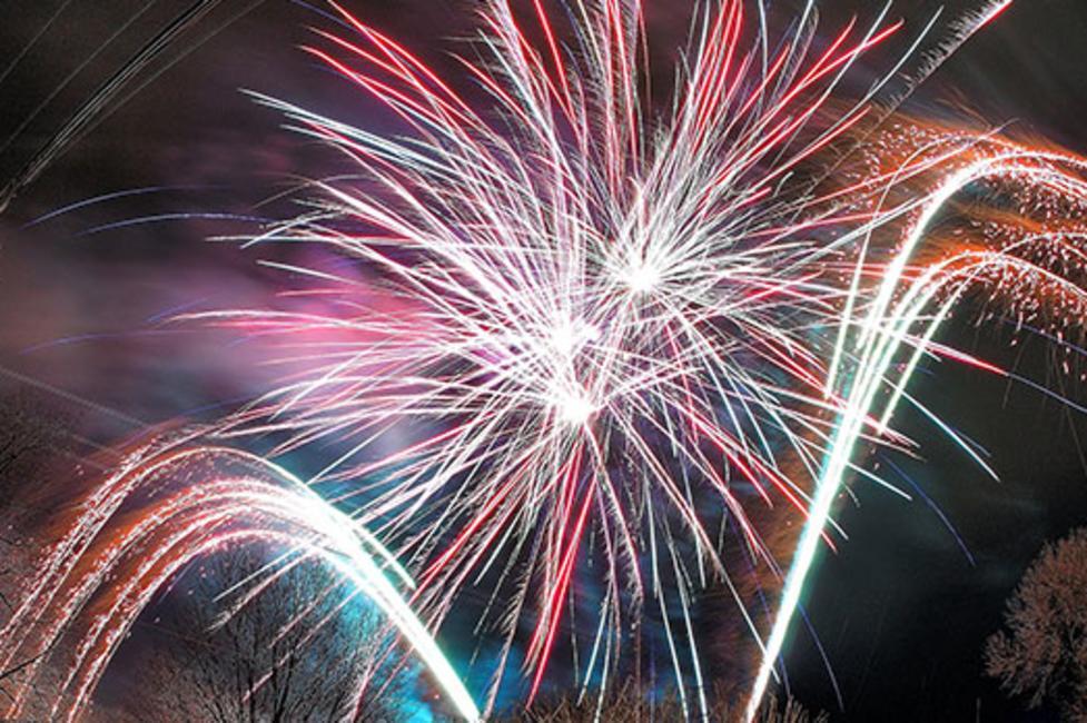First Night Saratoga fireworks - Photo by John Seymour