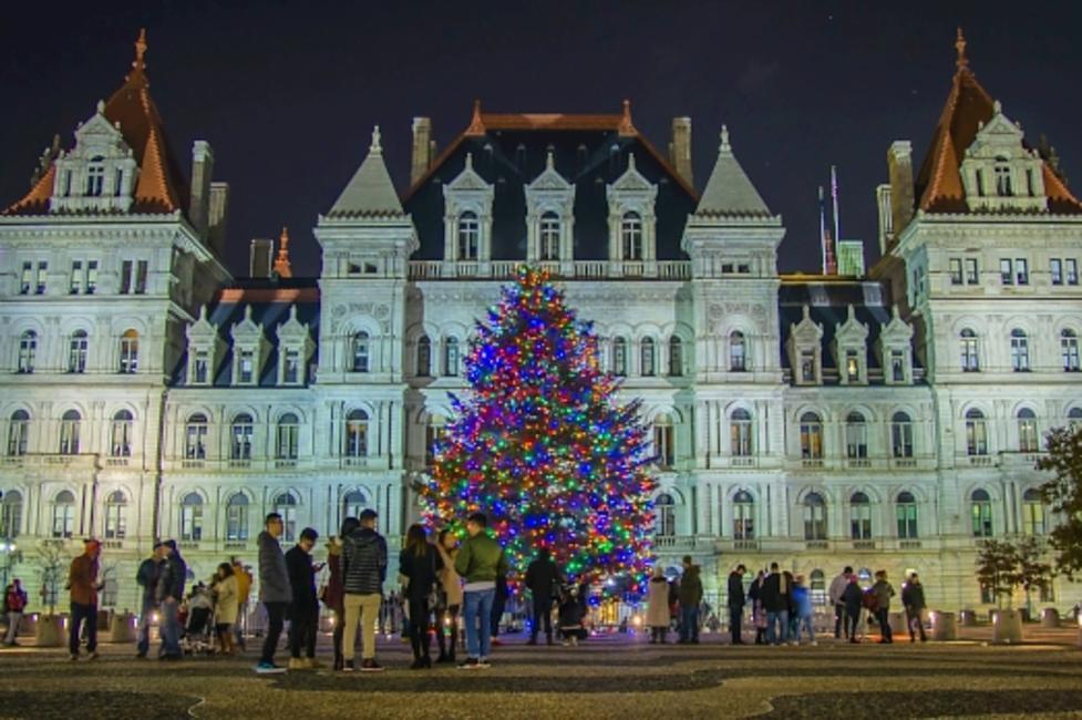 Empire State Plaza Holiday Tree Lighting