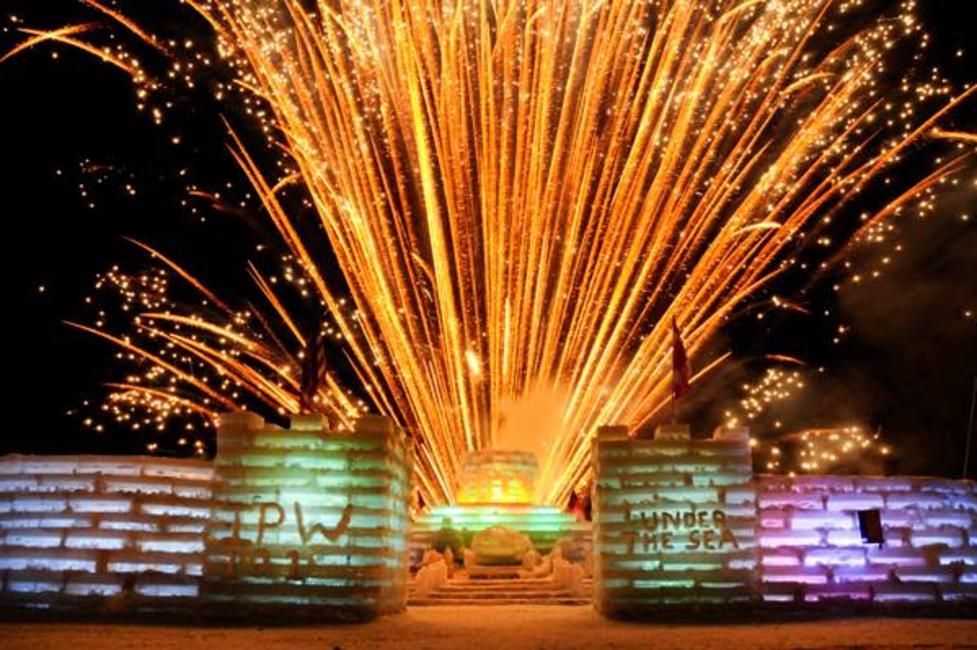 fireworks winter festival