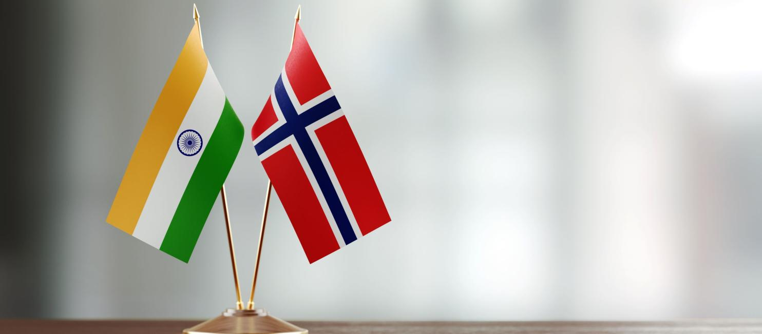 Indian and Norwegian flags