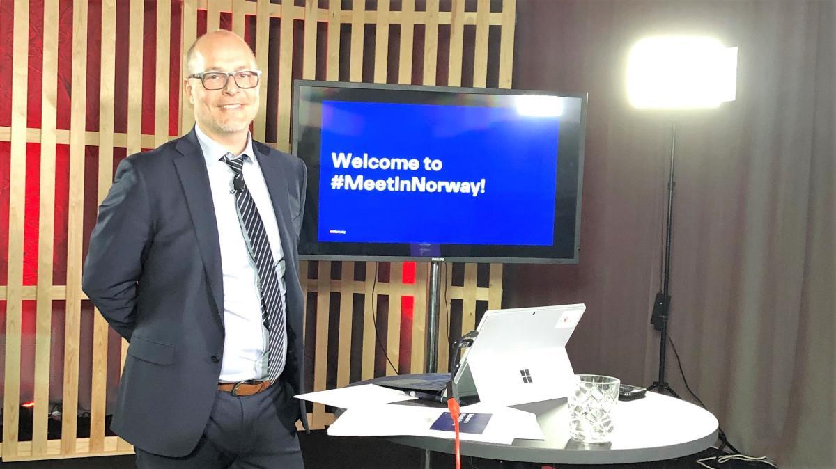 Frode Aasheim var programleder for MeetinNorway 2020