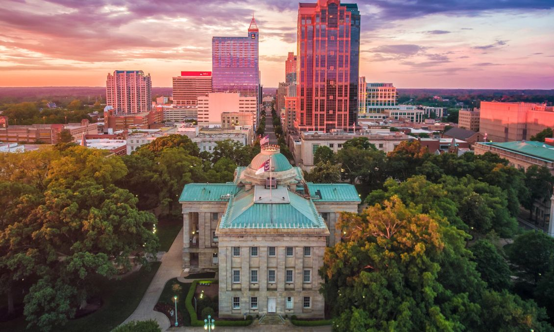 NC State Capitol overhead