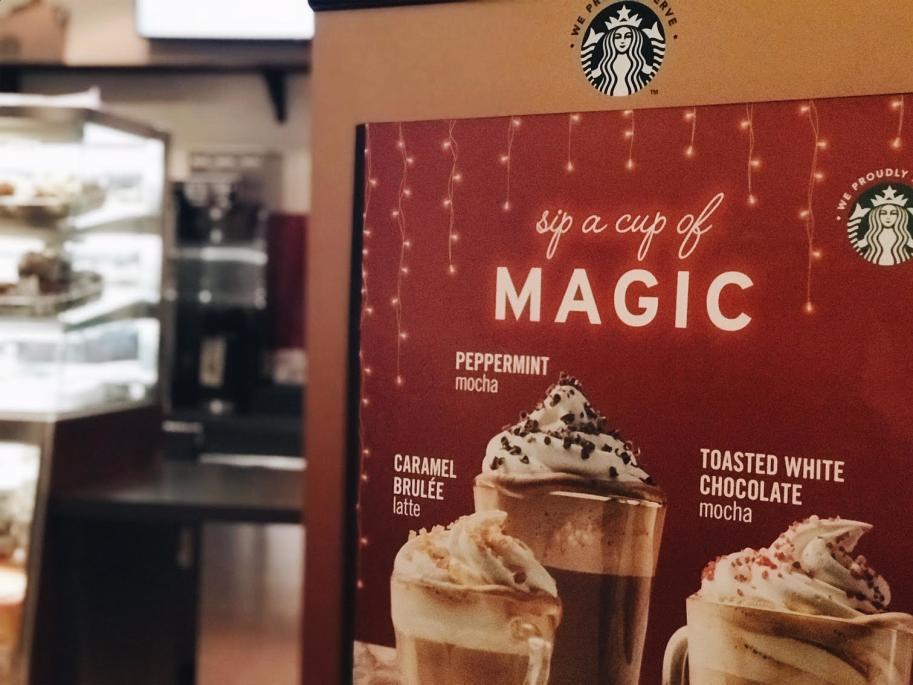 Starbucks Sign at Marriott