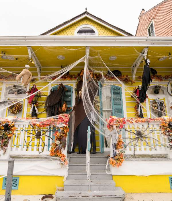Halloween Decorations in the French Quarter