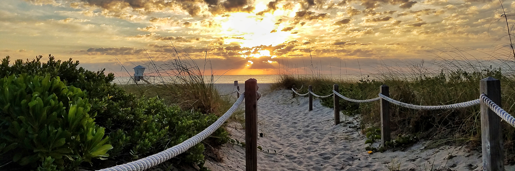 Beach Path In Sunset