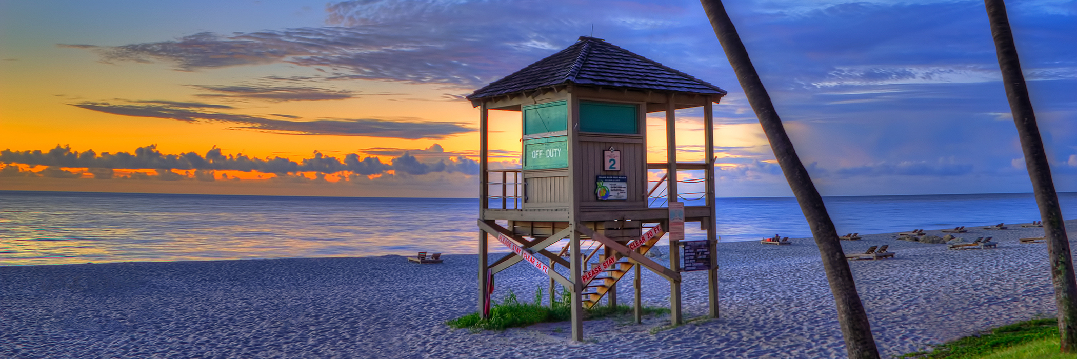 Life Guard Hut On Beach