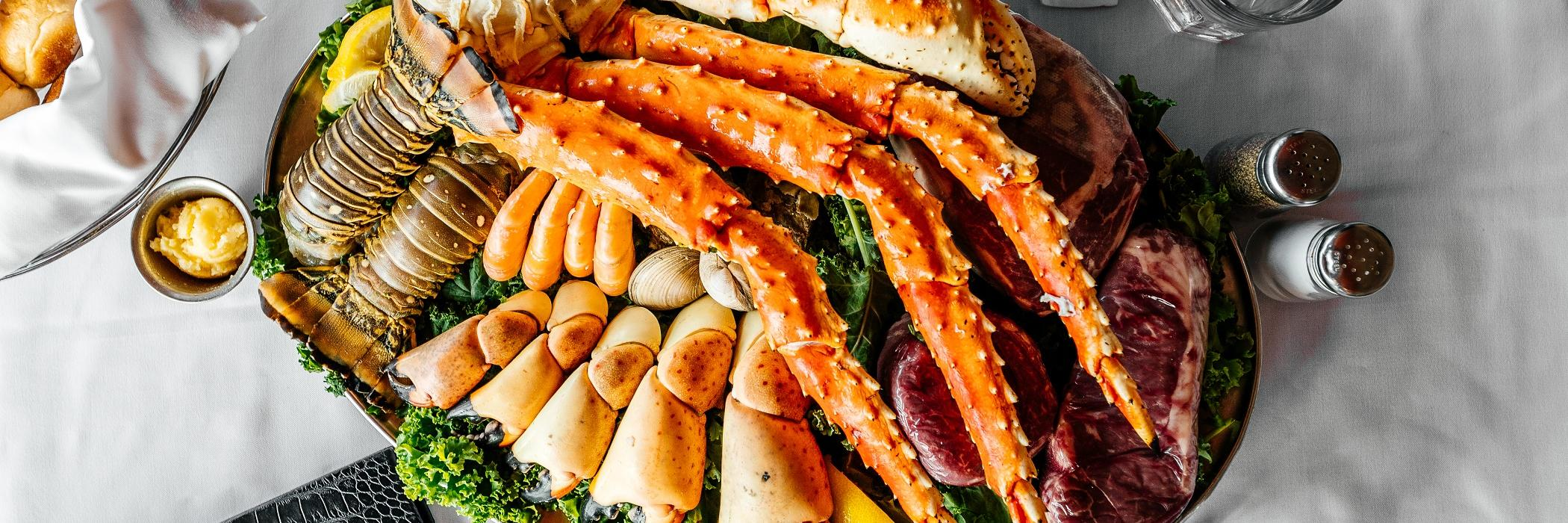 Billy's Stone Crabs Sampler Platter