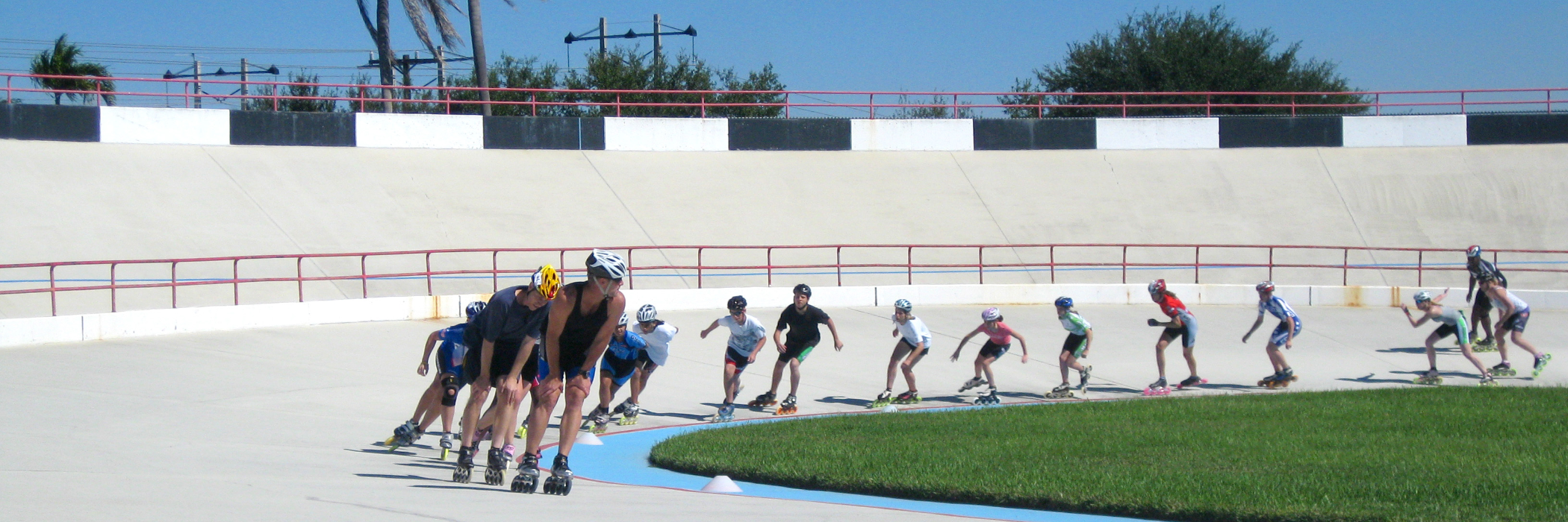 people skating at Cooper City Velodrome