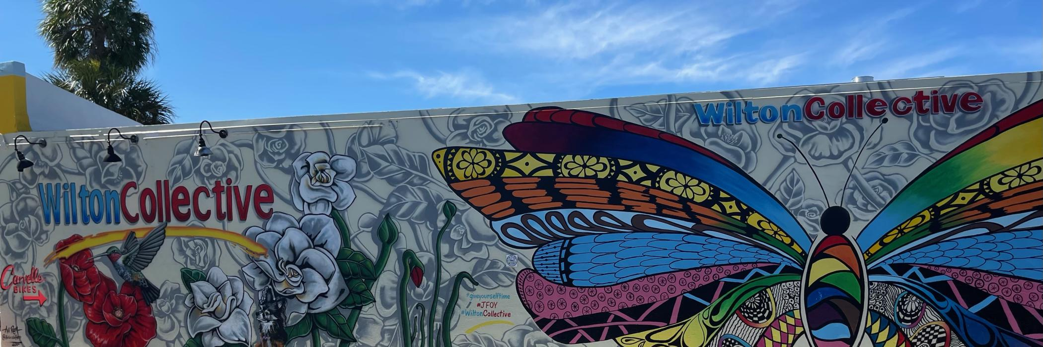 Wilton Collective Butterfly Mural