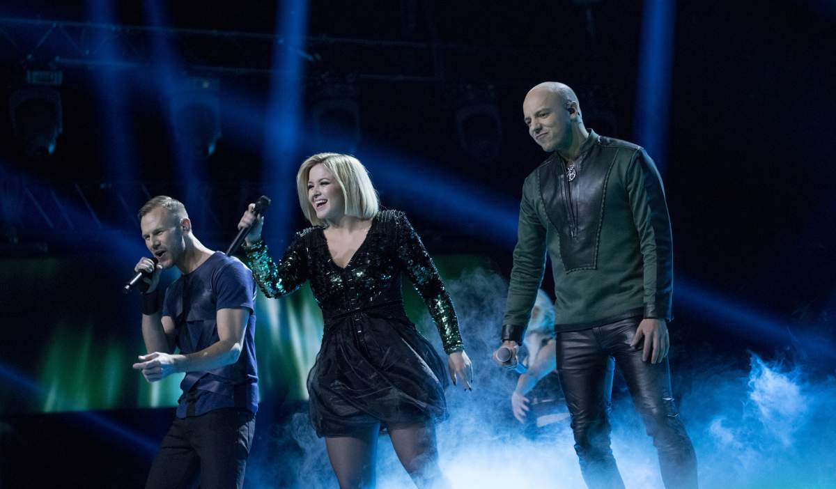 The band KEiiNO performing at MGP (Eurovision) 2019