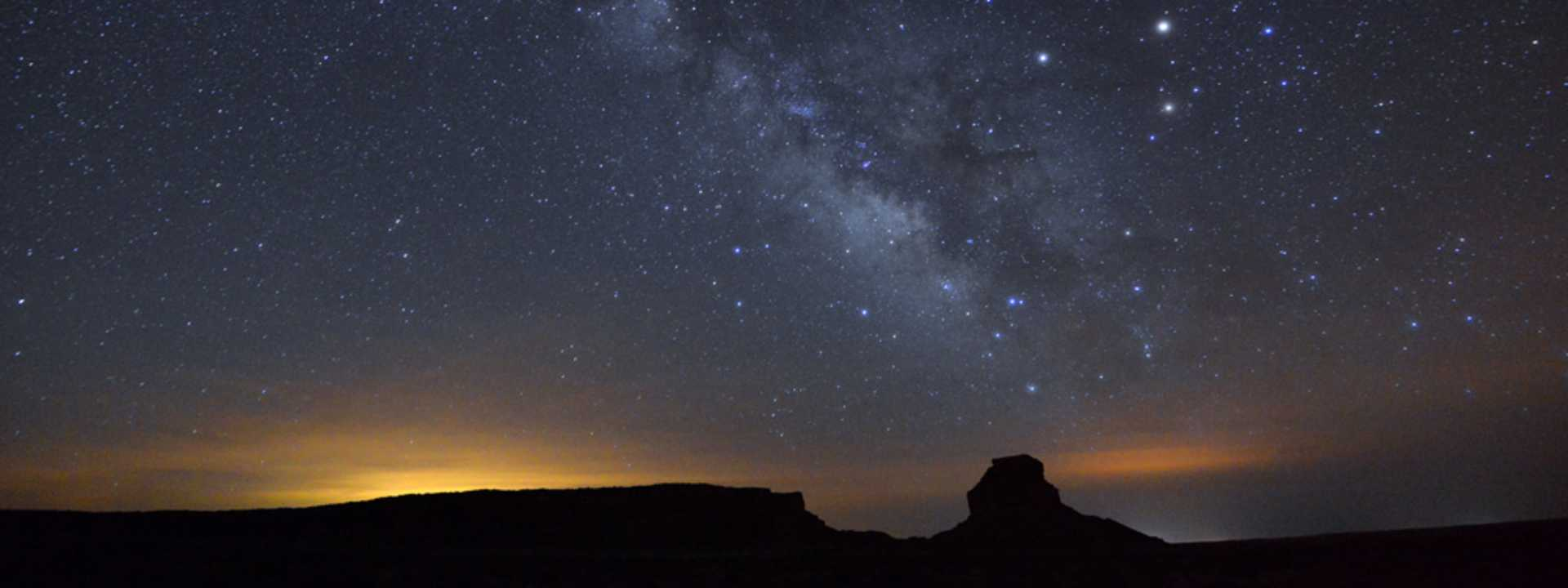 Chaco Canyon at night