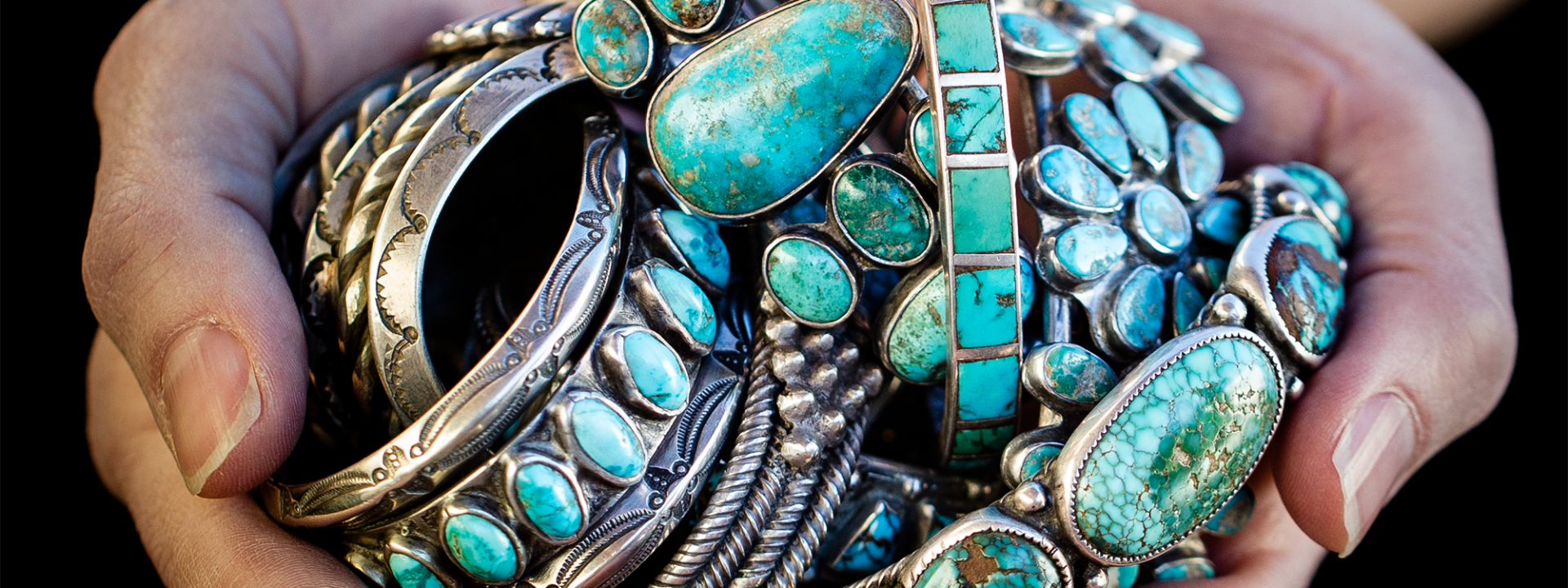 Turquoise in hands