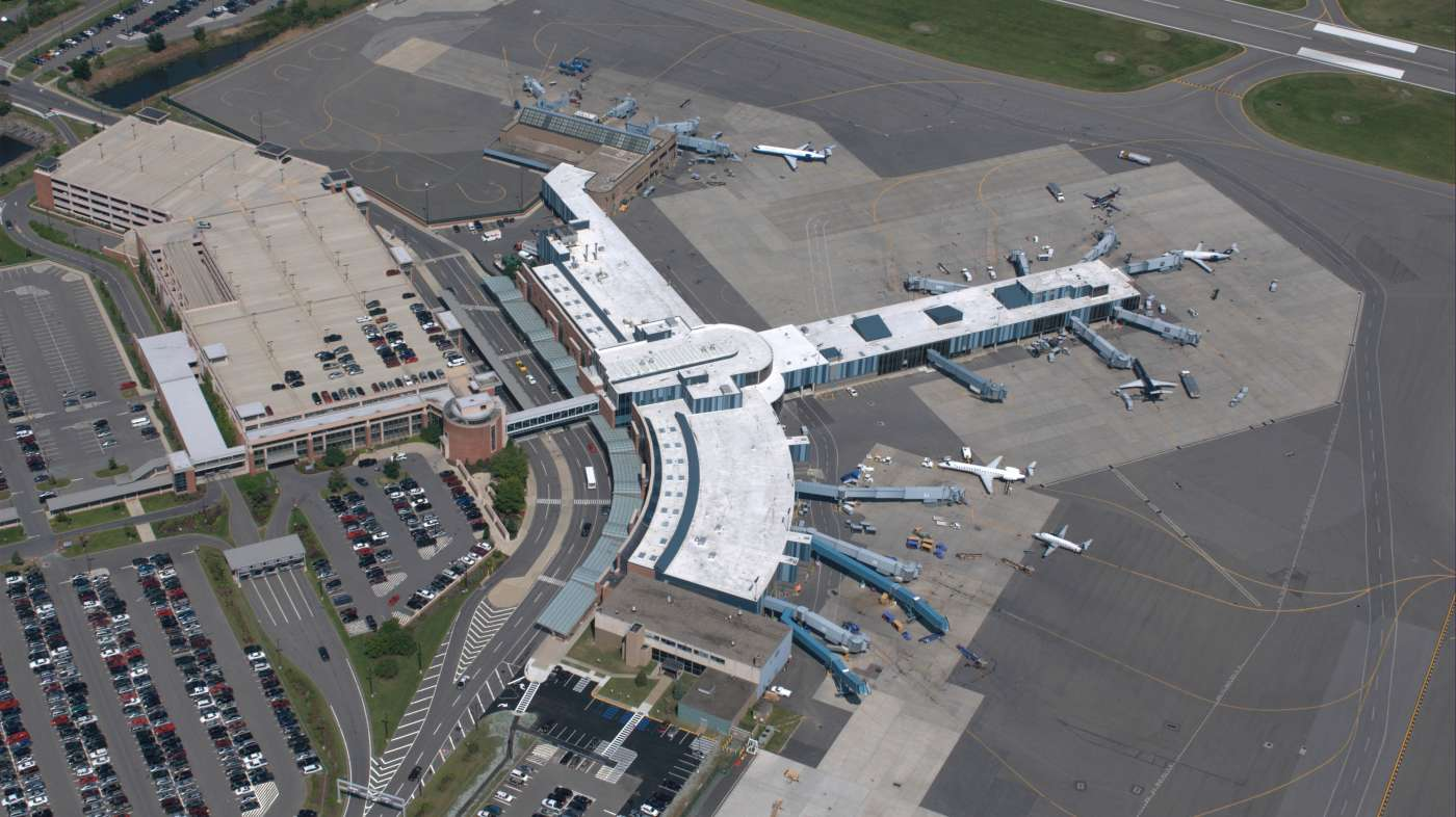 Aerial view of airport