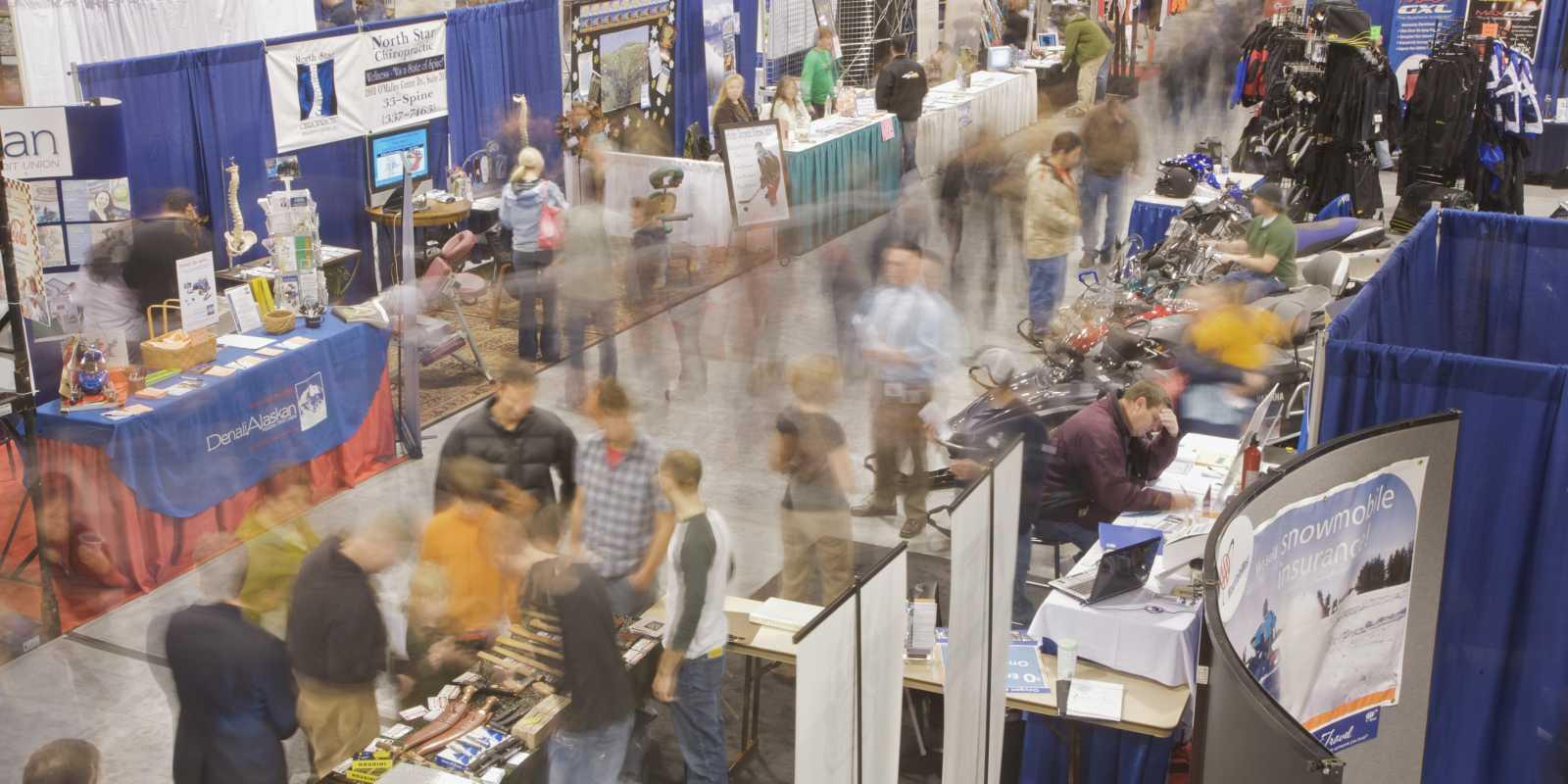 Dena'ina center tradeshow floor