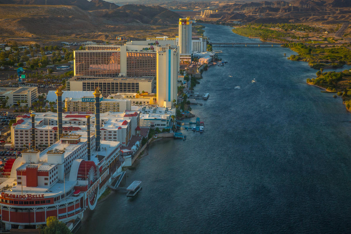 View of Laughlin riverfront from above