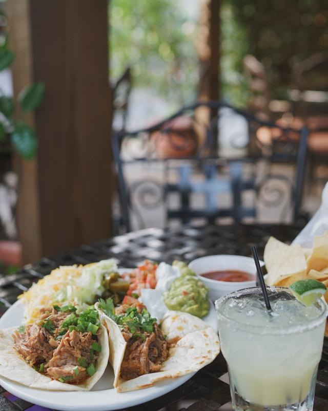 Santa Fe - Tacos and Magaritas while studying Jazz Fest cubes schedule