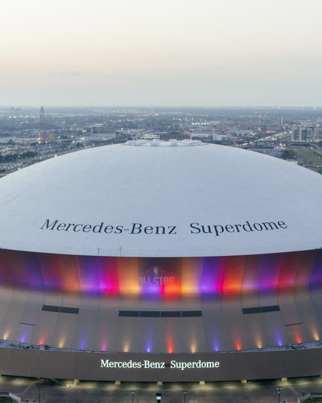 Superdome from Hyatt Regency Rooftop