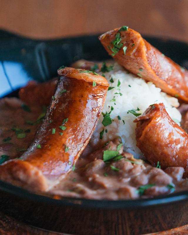 Red Beans and Rice with Sausage - Spotted Cat Food & Spirits St. Claude