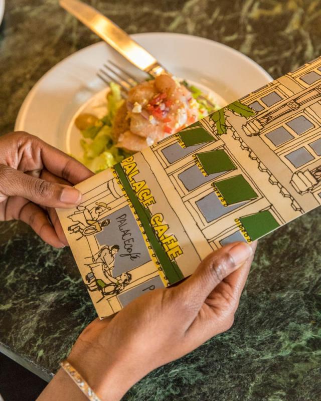 Palace Cafe menu