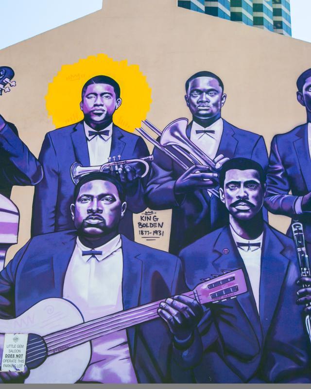 "Buddy Bolden Mural - Brandan ""B-Mike"" Odoms"