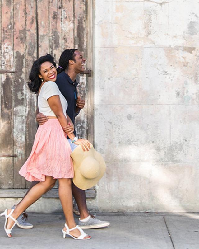 Couple Walking Together Header