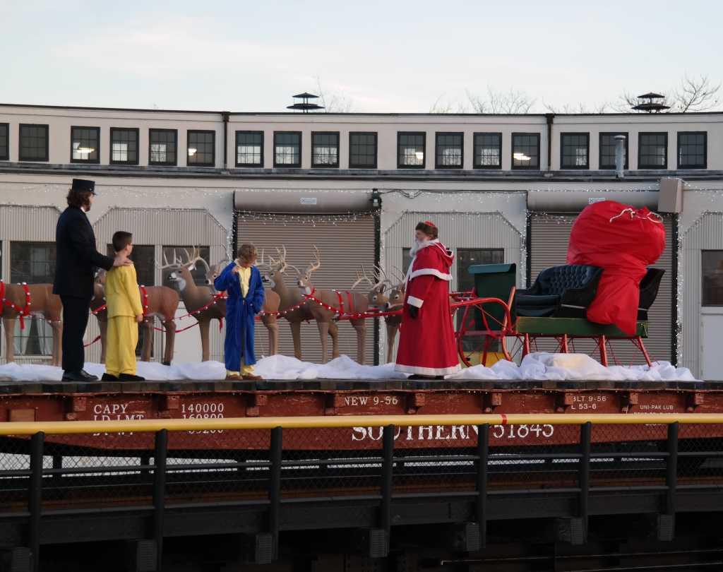 Santa Holiday Train at the NC Transportation Museum