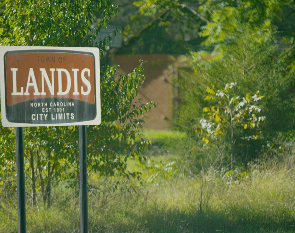 Landis Welcome Sign
