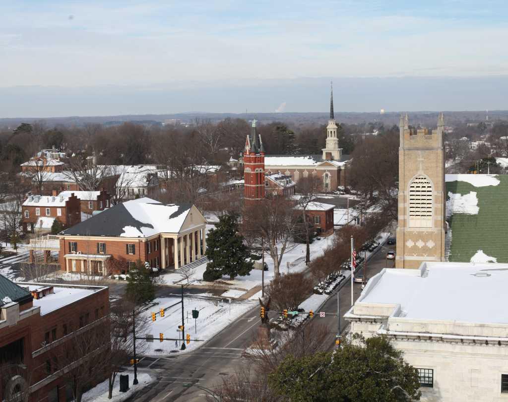 Downtown Salisbury Snow