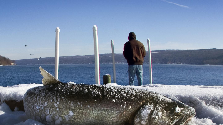 Lake Trout Winter Fishing on Keuka Lake