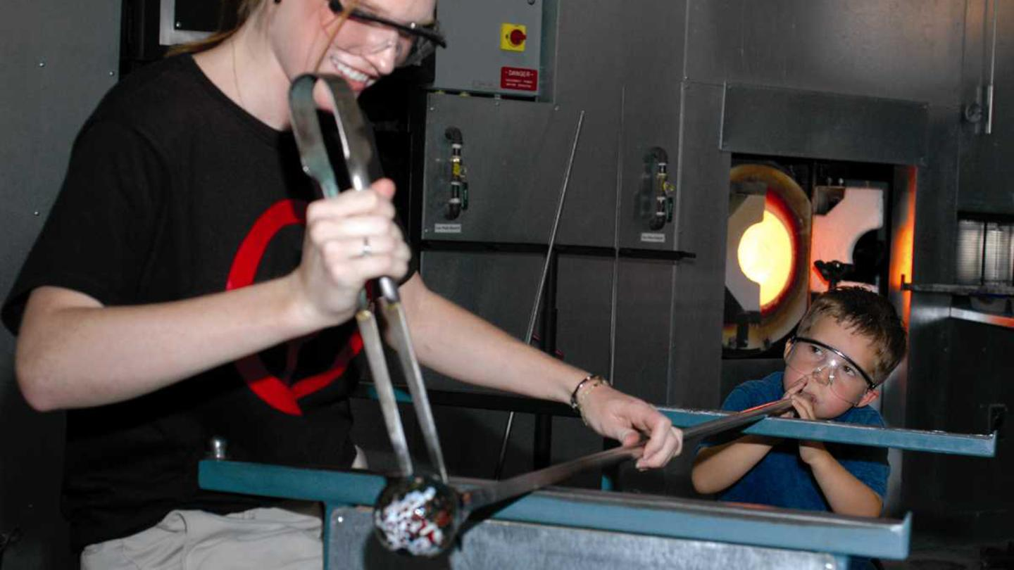 Glassblowing at The Corning Museum of Glass