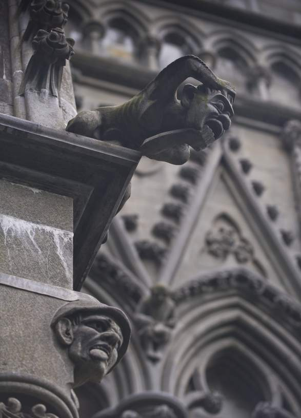 Ornaments at the Nidaros Cathedral in Trondheim